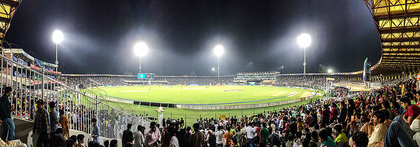 Gaddafi_Stadium_at_Night