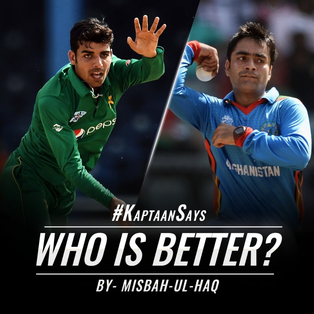 Shadab Khan or Rashid Khan? Kaptaan's Opinion on who is better